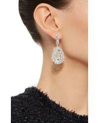 Suzanne Kalan | Metallic 18k White Gold Pear Topaz Vitrine Earrings | Lyst