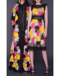 Ranjana Khan | Multicolor Yellow Flower Earrings With Vintage Coin Drops | Lyst