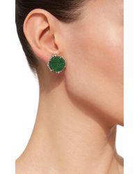 Kimberly Mcdonald - Green Uvarovite Garnet And Signature Irregular Diamond Studs - Lyst