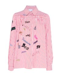 Dice Kayek | Multicolor Bead Embroidered Long Sleeve Shirt | Lyst