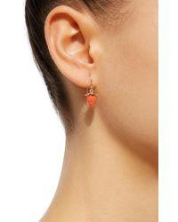 Annette Ferdinandsen | 18k Gold Red Coral Strawberry Earrings | Lyst