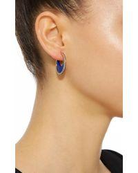 Noor Fares - Blue Chandra Crescent Earrings In Yellow Gold With Lapis Lazuli Crescents & Diamonds - Lyst