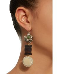 Lulu Frost | White M'o Exclusive Vintage Agate And Floral Earrings | Lyst