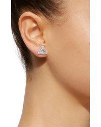 Martin Katz - White Trillion Diamond Toby Stud Earrings - Lyst