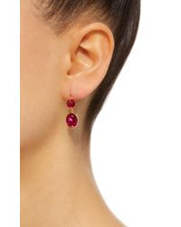 Renee Lewis - Red Antique Synthetic Ruby Earrings - Lyst