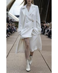 Dion Lee - White Soft Trench Coat - Lyst