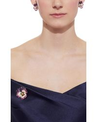 Fred Leighton - Set Of Purple Enamel Pansy Brooch And Earrings By Hedges - Lyst