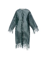 Oscar de la Renta | Green Cage Embroidered Jacket | Lyst