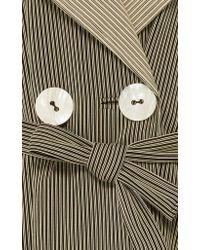Simon Miller | Multicolor Casco Stretch Pinstripe Trench Coat | Lyst