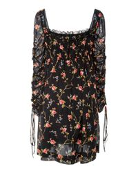 Jill Stuart - Black Fabienne Floral Mini Dress - Lyst