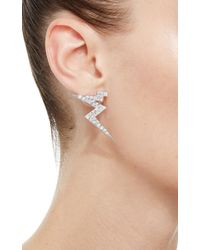 Claudia Oddi - White Lightning Mini Earrings - Lyst