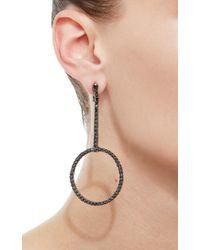 Jack Vartanian - Black Voyeur Hoop Earrings - Lyst
