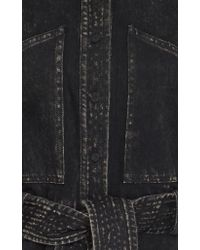 Adam Lippes - Black Short Sleeve Belted Dress - Lyst