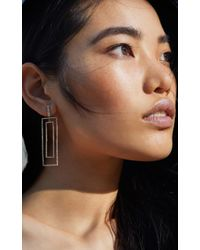SHAY - Metallic Open Rectangle Drop Earrings - Lyst