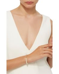 Sydney Evan - Pave Bar Bead On White Sapphire Faceted Rondelles Bracelet - Lyst