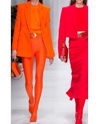 Versace | Orange Scoop Back Swimsuit | Lyst