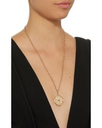 Marlo Laz | Metallic Guilding Light Necklace | Lyst