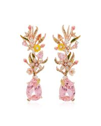 Anabela Chan | M'o Exclusive: Posie Pink Earrings | Lyst