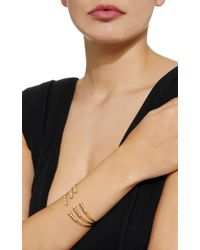 Mizuki | Metallic 14k Three Row Diamond Cuff Bracelet | Lyst