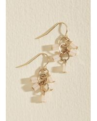 ModCloth | Metallic Cascading Charm Earrings | Lyst