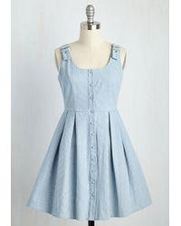 She + Sky | Blue Good Potluck! Dress In Light Wash | Lyst
