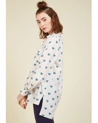 Sugarhill - White A Heart-y Helping Of Style Button-up Top - Lyst