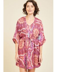 MINKPINK | Pink Thinking Out Lounge Robe | Lyst
