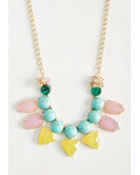 Lydell NYC - Blue Oval The Top Necklace - Lyst
