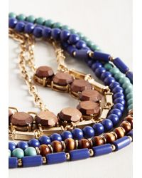 Ana Accessories Inc - Blue Yes You Glam Necklace In Lake - Lyst