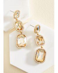 Cara - Metallic It's About Shine! Earrings In Champagne - Lyst