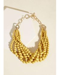 ModCloth | Multicolor Burst Your Bauble Necklace In Mustard | Lyst