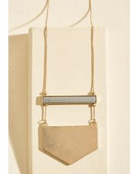 Ana Accessories Inc - Metallic A Game Of Give And Shape Necklace - Lyst