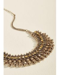 ModCloth - Metallic Built For Boldness Necklace - Lyst