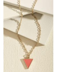 ModCloth | Metallic Worth A Tri Necklace In Punch | Lyst