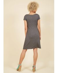 ModCloth - Gray A Whole New Whorl Jersey Dress In Charcoal - Lyst