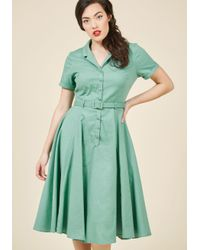 Collectif - Green Cherished Era Sheath Dress In Pistachio - Lyst
