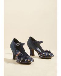 Ruby Shoo | Blue Mix And Marvel Mary Jane Heel In Navy | Lyst