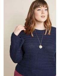ModCloth - Metallic Map Out Of It! Necklace - Lyst