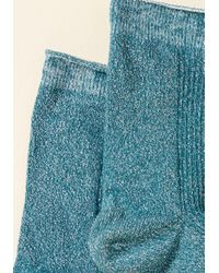 ModCloth - There's A Fine, Fine Shine Socks In Blue - Lyst