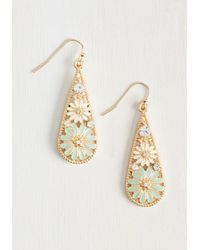 Ana Accessories Inc - Metallic People, Graces, Things Earrings In Mint - Lyst
