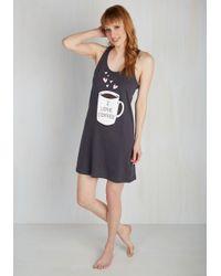 Sleep & Co. - Gray Loving Brew Is Easy Nightgown - Lyst