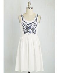 She + Sky - The Folky Pokey Dress In White - Lyst