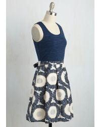 Doe & Rae - Blue How Time Fireflies A-line Dress - Lyst