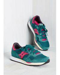 Saucony - Green Look Who's Sporty Sneaker In Teal - Lyst