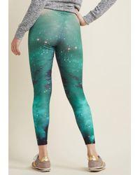 ModCloth - Green Fresh Take Leggings In Galaxy - Lyst