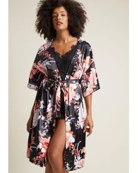 MINKPINK | Brews On The Balcony Robe In Black | Lyst