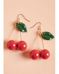 ModCloth - Red Drupe Hug Earrings - Lyst