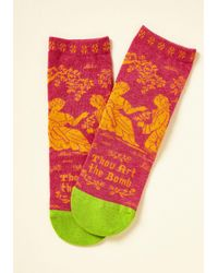 ModCloth | Pink Bard Act To Follow Socks | Lyst