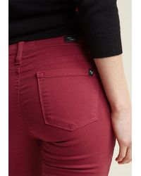 ModCloth - Colored Classic Skinny Jeans In Crimson - Lyst