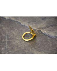 Ann Demeulemeester | Metallic Shiny Lens Ring | Lyst